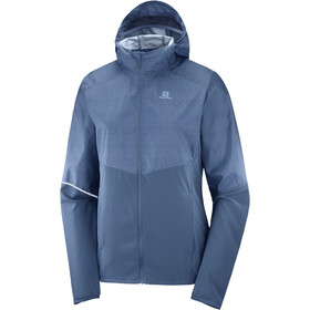 Salomon Agile FZ Hoodie Women dark denim